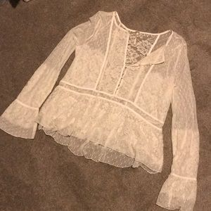 Free people lace top L